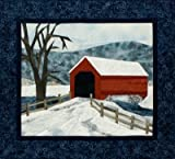 quilt freezer paper - Covered Bridge - NEW Form of Foundation Paper Piecing (Picture Piecing) Pattern - 19 1/2