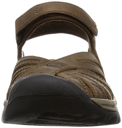 Keen Rose Leather Damen Sandalen Dark Earth Braun