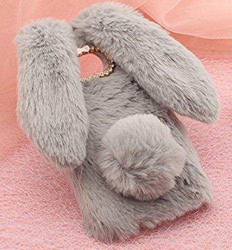 Fur Bunny Tail - for Moto E4 Case, Omio Soft