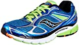 Saucony Men's Guide 7 Running Shoe,Blue/Slime/Orange,14 M US