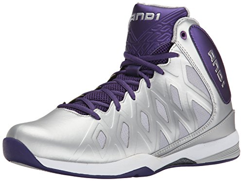 AND1 Men's Unbreakable mid-m, Parachute/Silver, 7.5 M US