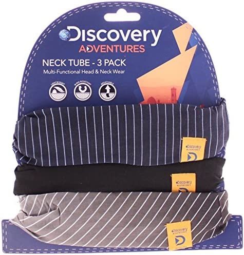 OXFORD DISCOVERY ADVENTURES NECK TUBE 3 PACK MOTORBIKE BIKER COMFY PINSTRIPE