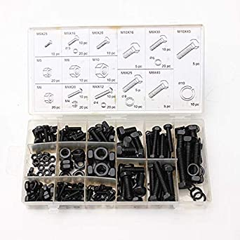 240pcs M4 M5 M6 M8 M10 Spacers Screw Nut Bolt Assortment Kit: Amazon.es: Industria, empresas y ciencia
