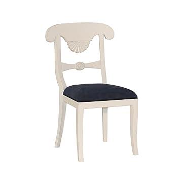 Stuhl Franziska Mahagoni weiß Landhausmöbel Stilmöbel weiß ...