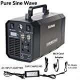EasyFocus 200WH Portable Generator Power Source 18000mAH Lithium Battery Pack 300W Pure Sine Wave Inverter Camping CPAP Emergency Home Power Supply Charged by Solar Panel/AC Outlet/Cars