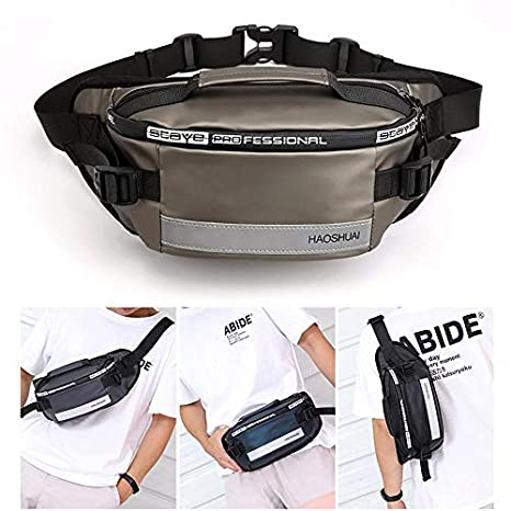Portable Cycling Bags Anti-theft Zipper Pack Adjustable Belt For Ladies And Men