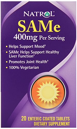 Natrol SAMe, 400 mg, comprimés 20ea
