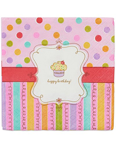 American Greetings 013051304317 Party Supplies Sweet Stuff Beverage Napkins (16 Pack) (Party Stuff)
