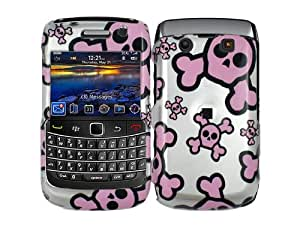 Skull Pink and White Case Cover for Blackberry Bold 2 9700 9780