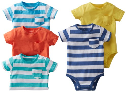 Carter's Baby Boys' 5 Pack Striped Bodysuits - Stripe