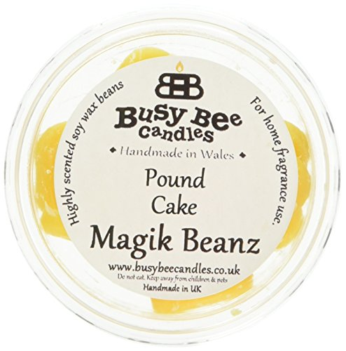 Busy Bee Candles Magik Beanz Pound Cake (Pack of 6), Yellow, 7.2x7.2x16.8 cm