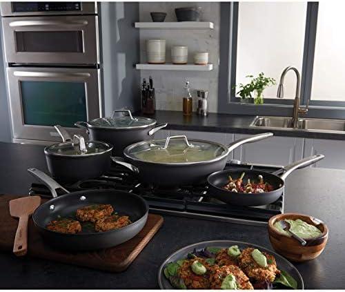 Calphalon 2029617 Premier Hard-Anodized Nonstick 8-Piece Cookware Set, Black