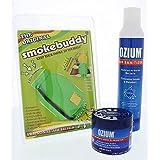 Smokebuddy Lime Original Personal Air Purifier with Ozium 8oz Aersol and Ozium 4.5oz Gel