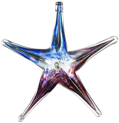 Kitras 6-Inch Starfish Glass Ornament, Winter Solstice/Multi (Solstice Ornament)