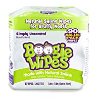 Boogie Wipes Soft Natural Saline Wet Tissues for Baby and Kids Sensitive Nose...