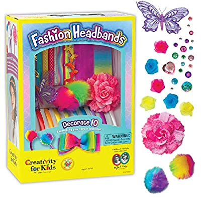Creativity for Kids Fashion Headbands Craft Kit, Makes 10 Unique Hair Accessories: Toys & Games