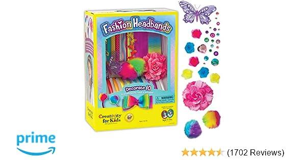 34ac429229ce Amazon.com  Creativity for Kids Fashion Headbands Craft Kit