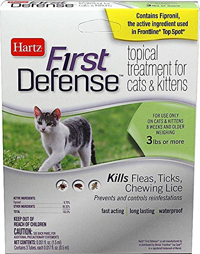 First Defense Topical Treatment for Cats and Kittens 515xB3i8g0L