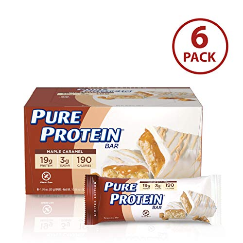 - Pure Protein Bars, Gluten Free, Maple Caramel, 1.76 oz, 6 Count