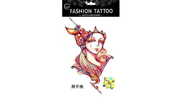 Tatuajes Temporales Para Diferentes constelación Sagitario de 12 ...