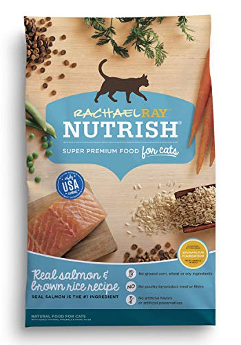 Rachael Ray Nutrish Natural Dry Cat Food, Salmon & Brown Ric