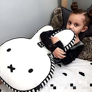 HILTOW Miffy Rabbit Toy Pillow,Decorative Cotton Throw Pillow For Kids (Large)