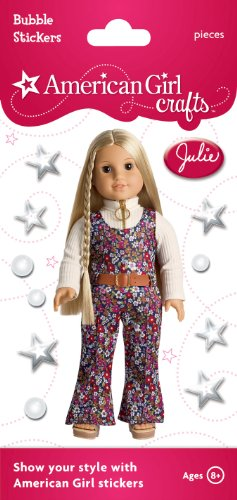 American Girl Crafts Bubble Stickers, Julie Albright Floral Jumpsuit -