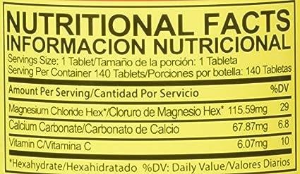 Amazon.com: Cloru-Mag Plus - Magnesium Chloride - 140 tablets (Cloruro de Magnesio): Health & Personal Care