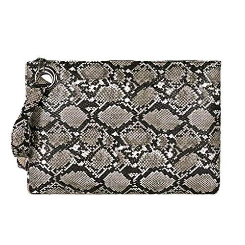 Snake Print Wristlet Clutch Women Daily Makeup Bags Purse Soft Pu Leather Money Phone Pouch Casual Wallet