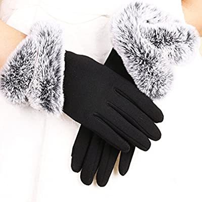 Dolland Womens Touch Screen Winter Gloves Warm Thick Lined Smart Texting Gloves