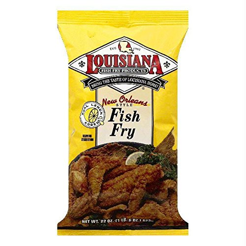 Louisiana Fish Fry Company New Orleans Style Fish Fry with Lemon - Family Size, 22 Ounces (Packaging May Vary) by Louisiana