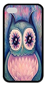 IMARTCASE iPhone 4S Case, Owl Tattoos Durable Case Cover for Apple iPhone 4S/5 TPU Black