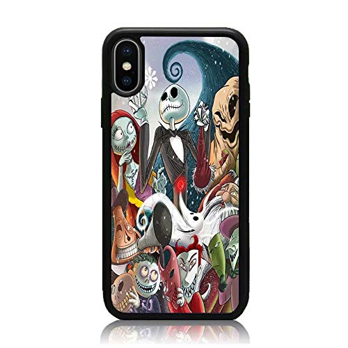 Nightmare Before Christmas Phone Case.Iphone Xs Max Case Nightmare Before Christmas Series Print Soft Tpu Hard Back Shock Absorption Scratch Proof Slim Protective Case Cover For