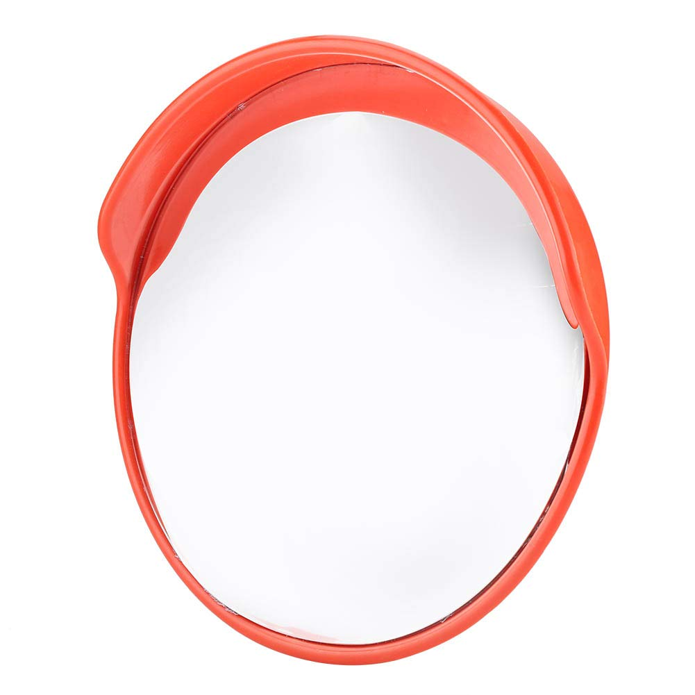 Convex Traffic Mirror, 45cm 130° Wide Angle Driveway Road Safety Mirror with Mounting Hardware Accessories