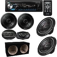 Pioneer DEH-S4000BT CD/AM/FM Stereo Receiver w/Bluetooth/Pandora TS-A6966R 6 x 9 250W 6.5 12 Single 4 Ohm Car Subwoofer Champion Series Subwoofer Dual 12-Inch, 3/4-Inch Sealed Enclosure