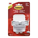 single broom holder - 3M Command Broom Gripper, White with Grey Band, Hangs 4 lbs, Hang Damage-Free (17007-ES)