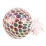 Pu Ran Kids Adult Funny Glowing Squishy Grape Squeeze Ball Mesh Stress Relief Toy - Multicolor