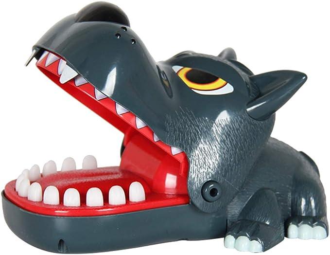 Toyvian Lobo Morder Juego de Dedos Animal Boca Morder Juguete Novedad Broma Juguete Juego Interactivo para Niños Niños Regalo de Año Nuevo: Amazon.es: Juguetes y juegos