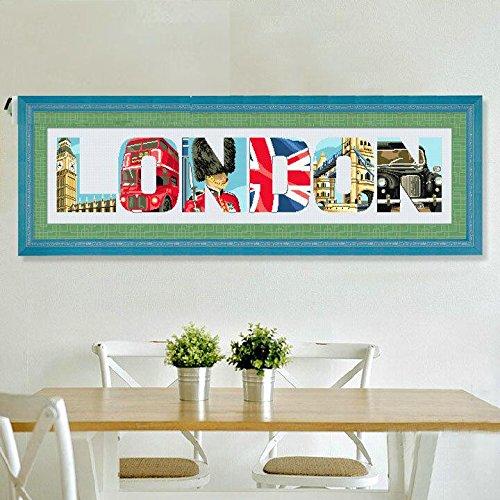 London glimps cross stitch kits, 14ct, DMC cotton thread 507