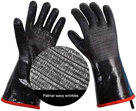 14 inch Size 9 Bomoya Handschuhe f/ür Grill W/ärmebest/ändige Ofen Handschuhe Wasserdicht feuerfeste /Öl Resistant Grill Handschutz Kochzubeh/ör Neu