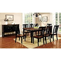 Furniture of America Lohman 9 Piece Dual-Tone Rectangular Dining Table Set