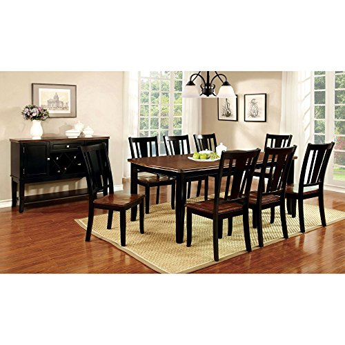 Furniture of America Lohman 9 Piece Dual-Tone Rectangular Dining Table Set