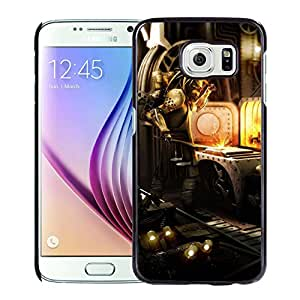 New Custom Designed Cover Case For Samsung Galaxy S6 With Steampunk Factory Worker Fantasy Mobile Wallpaper Phone Case