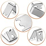 HK Freezer Shelf Clip, Fridge Cooler Shelf Support, Replacement Shelf Square Buckles Clips, Stainless Steel Hooks Shelf Clip for Refrigerator