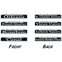Beistle 57504 4-Pack Mardi Gras Street Sign Cutouts, 4-Inch by 24-Inch