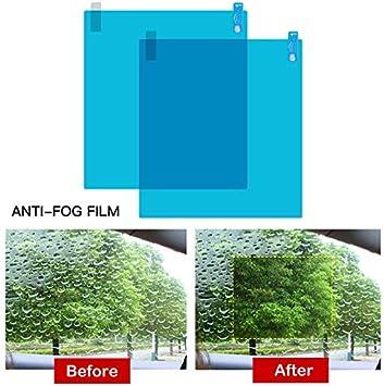 200 * 175mm 95 * 135mm FRFJY Auto Seitenscheibe Anti-Fog-Folie Schutzfolie Anti-Fog-Folie Blendschutz Wasserdicht Regen Auto Aufkleber Transparentfolie 4 St/ück
