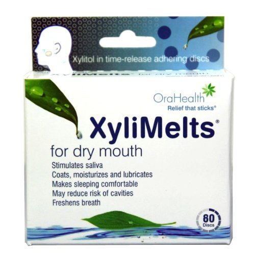 Dry Gum (Promotes healthy teeth and gums - XyliMelts for Dry Mouth, Mint-Free, 80-Count Boxes)