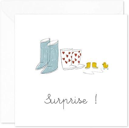 Mamie Tata ou Tonton /• Annonce Surprise /• popcarte 8 Cartes Annonce Grossesse avec 8 Enveloppes /• Annonce Originale /• Papy Blanc Iris/é
