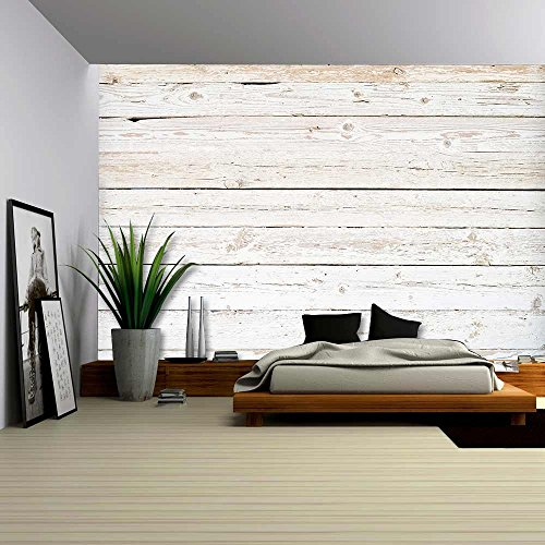 wall26 - Grunge Background of Weathered Painted Wooden Pl...
