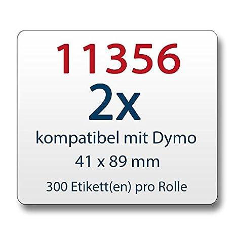 zu Dymo 11356 41 x 89 mm 300 Label Etiketten pro Rolle 50x Label kompat